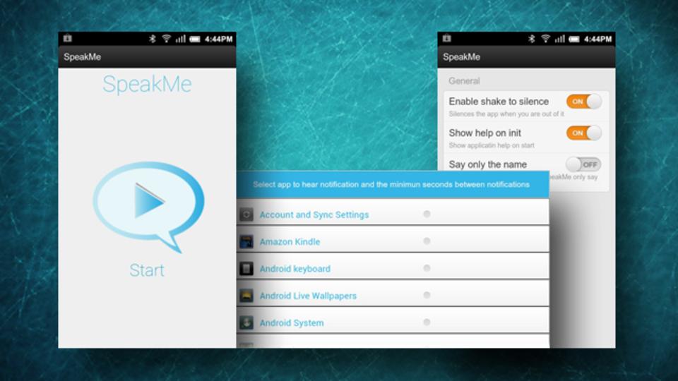 読み上げるアプリを取捨選別できる『SpeakMe』