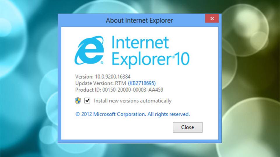 Internet Explorer 10のWindows 7用リリースプレビュー版公開!