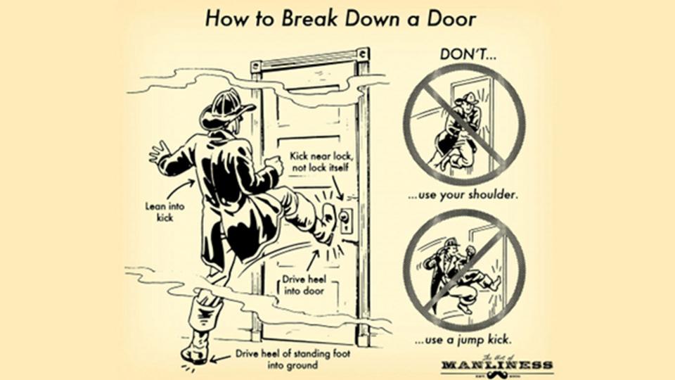 万が一のための「安全にうまくドアを蹴破るコツ」