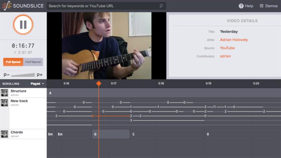 ギター上達の最強ツール! 『Soundslice』でTAB譜と演奏動画を同時再生