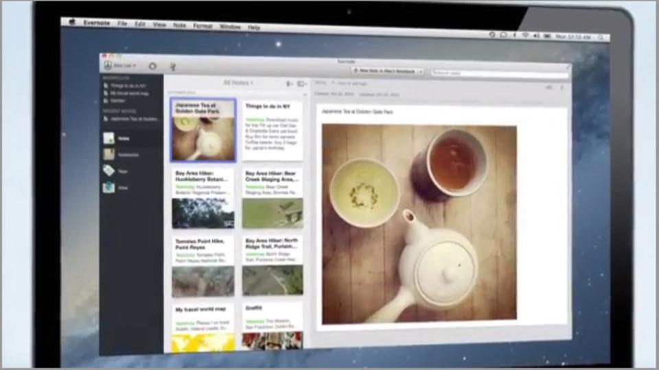 デザイン一新で美しい! Mac用『Evernote 5』