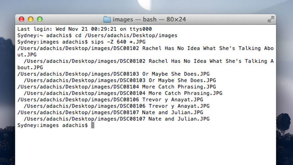 OS XのTerminalコマンドで大量の画像を一括リサイズ!