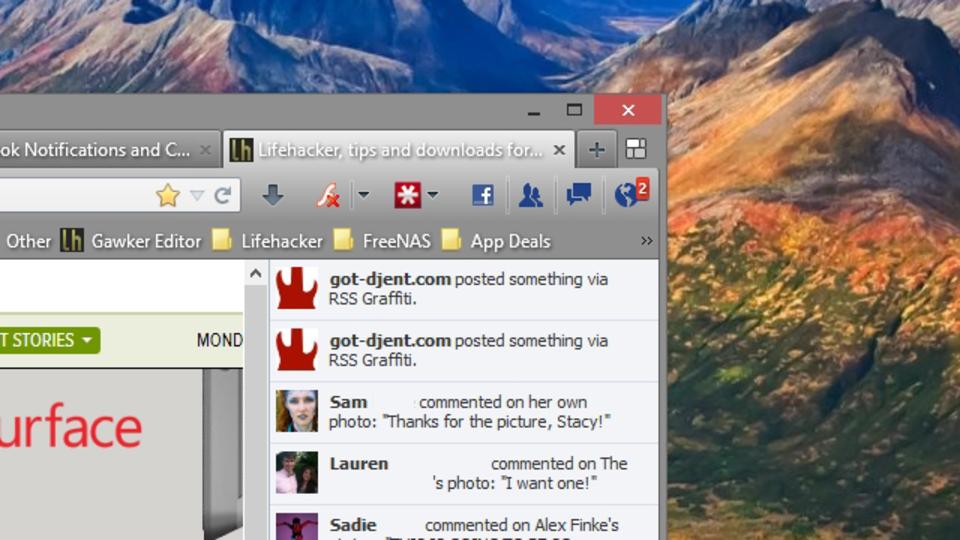Firefoxの隠し機能? Facebookの通知やチャットをリアルタイム表示