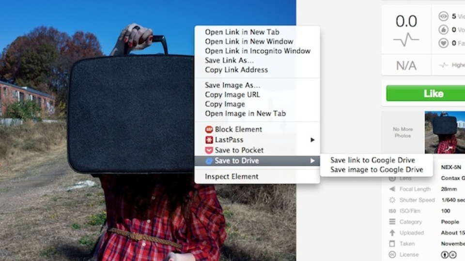 「Save to Drive」で画像や動画をGoogle Driveへワンタッチ保存!