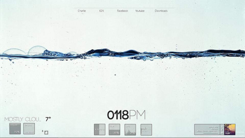 透明感たっぷりの水面下デスクトップ ~究極のデスクトップを求めて