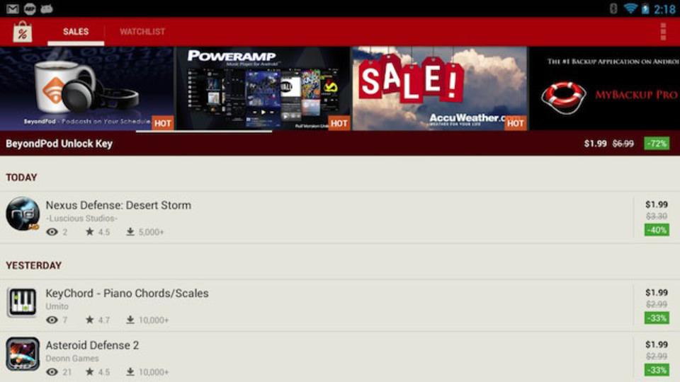 欲しいアプリが値下げされたら教えてくれる『AppSales. Best Apps on Sale』