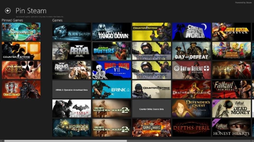 Windows 8でSteamゲームを遊ぶなら『Pin Steam』でタイル化しよう