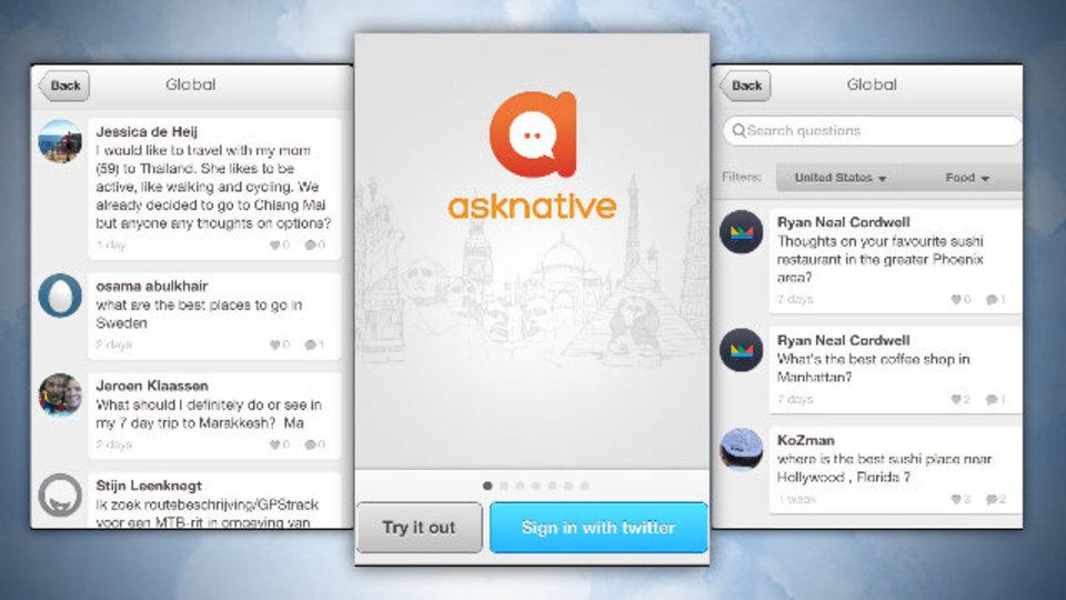 海外旅行先の情報を知りたい! そんな時に便利なアプリ『asknative』