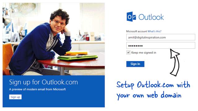 Google Appsで有料化した独自ドメインメールを無料で使うにはOutlook.comがいい