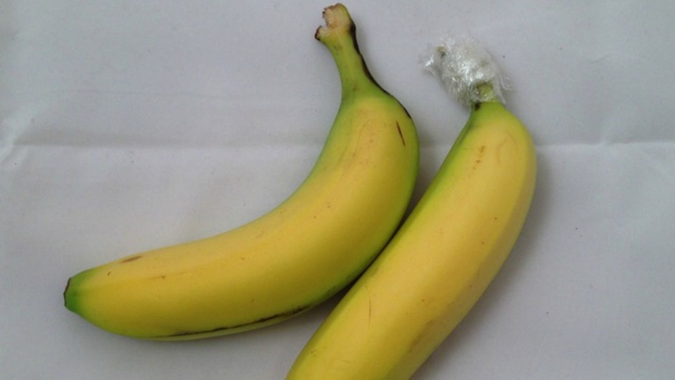 2つのバナナの長持ち法を足すと、究極にもちます!