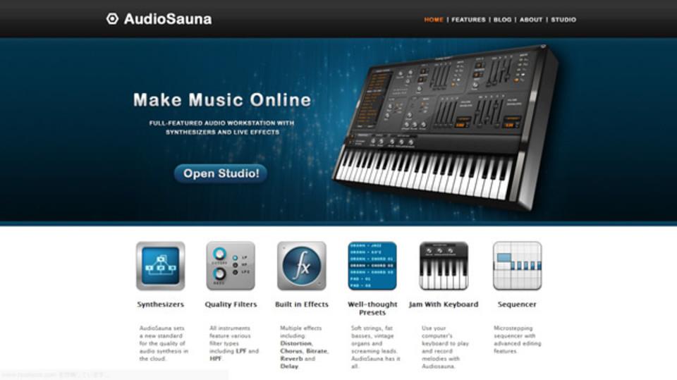 ブラウザ上で楽しめるデジタルオーディオワークステーション「audiosauna」