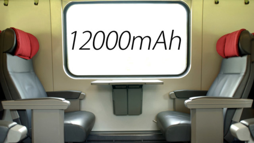 大容量モバイルバッテリーは実際使えるのか。鉄道の旅で試してみた
