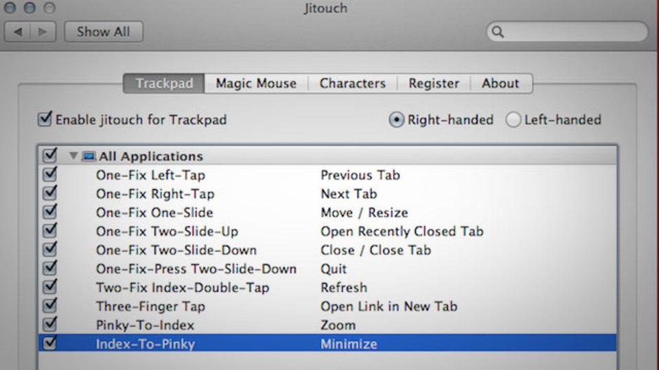 Macのトラックパッドのジェスチャー操作を追加&カスタマイズできる『Jitouch』