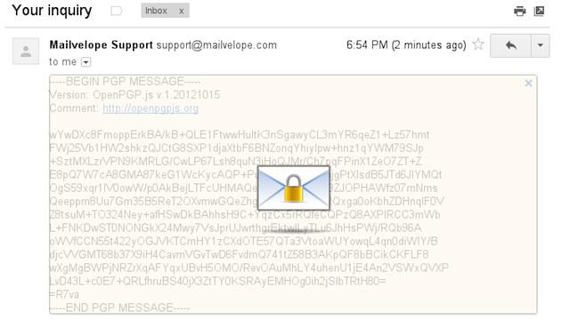 Webメールに暗号化機能を与えるアドオン「Mailvelope」