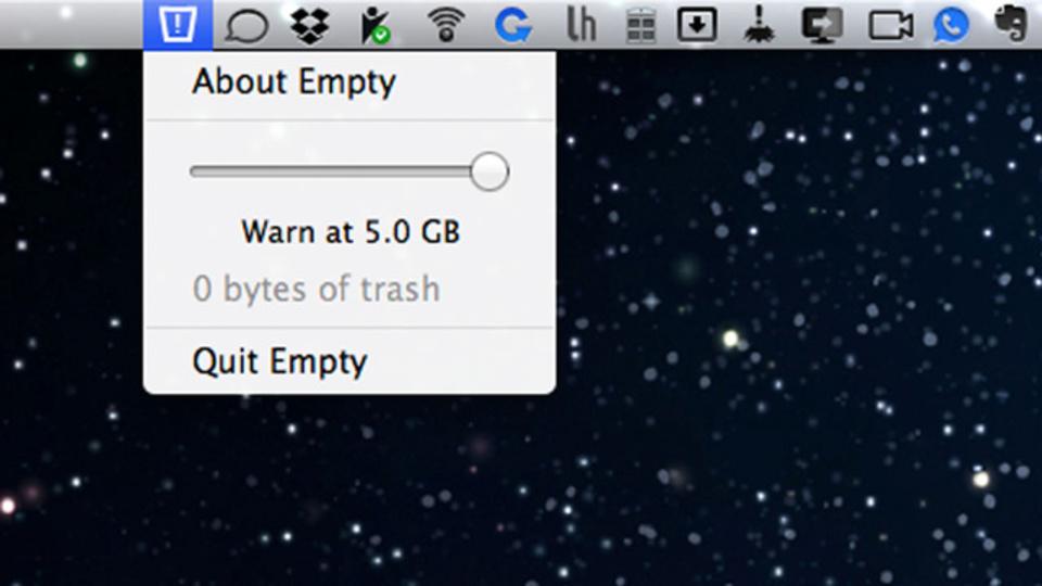 ゴミ箱を空にするように促してくれるMac用アプリ『Empty』