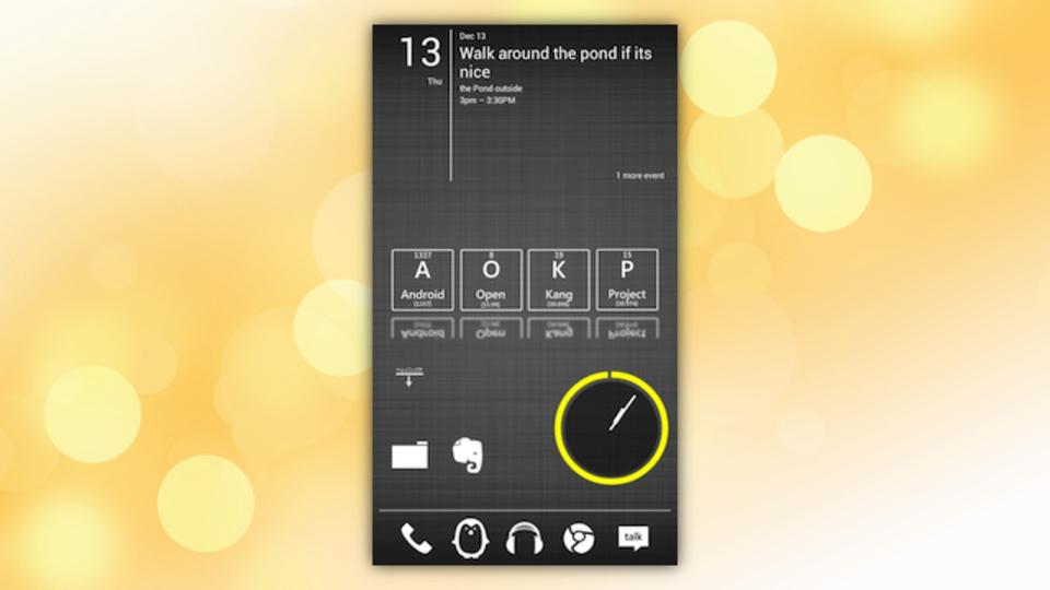 周期表Androidホーム画面~究極のホーム画面を求めて