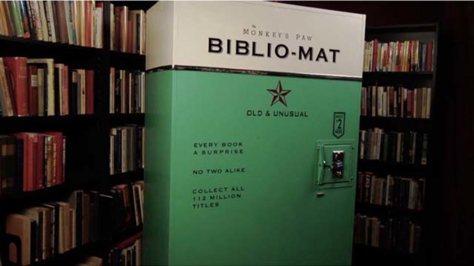 本との一期一会〜ランダムに本が出てくる古本販売機