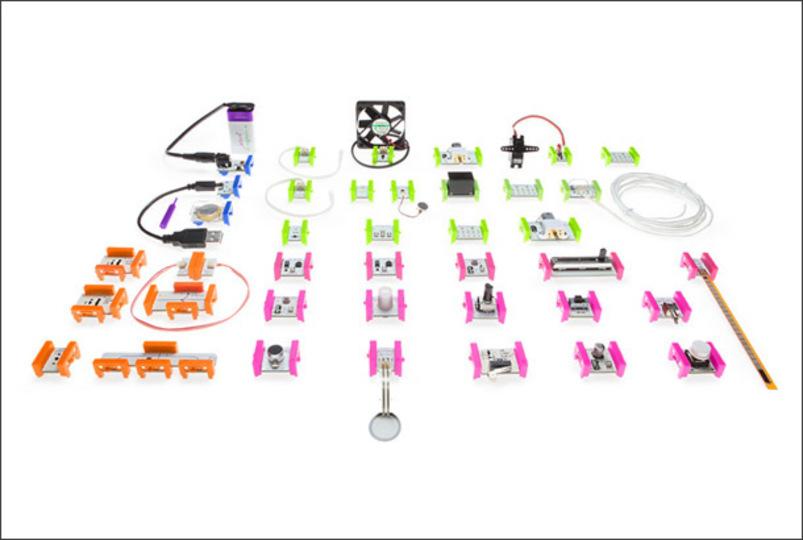 どこか懐かしい...。レゴのように遊びながら作れる電気オモチャ「little bits」