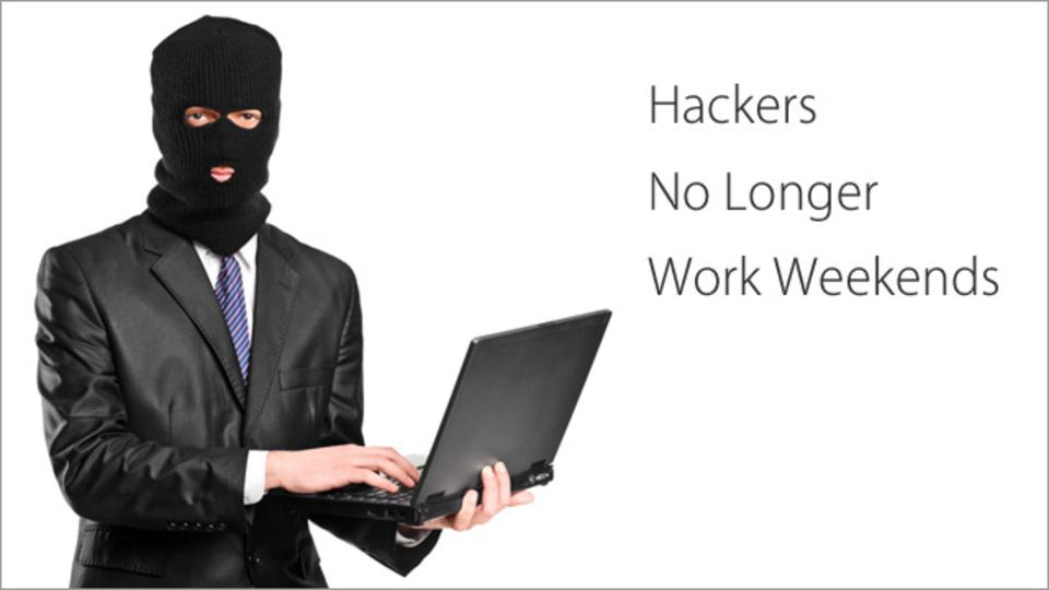 最近のハッカーはしっかり週5日で働いているらしい