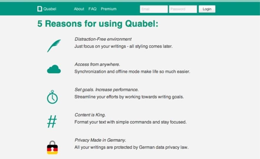 プレゼンにも! 読了時間を教えてくれるオンラインテキストエディタ「Quabel」