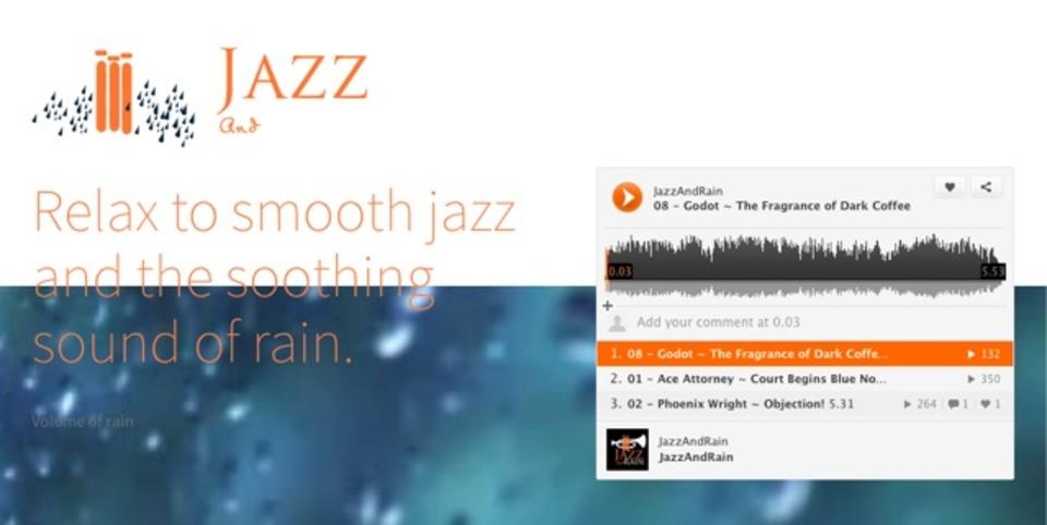 雨の音とともにジャズが聴けるサイト「Listen to Jazz and Rain」