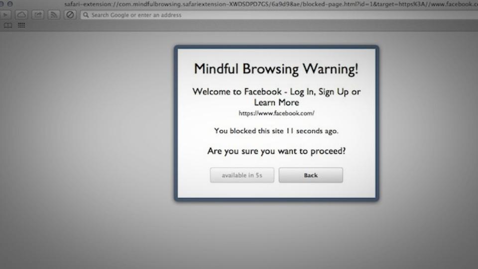 指定サイトの閲覧を一定期間ブロックしてくれるSafari用拡張機能『Mindful Browsing』