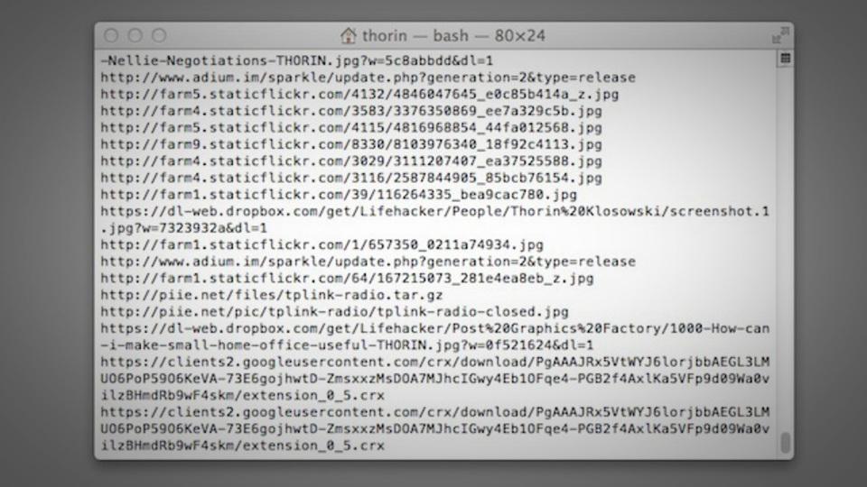 ダウンロード履歴を表示させるMacのターミナルコマンド