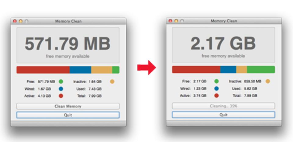 Macのメモリを自動的に開放してくれる『Memory Clean』が便利!