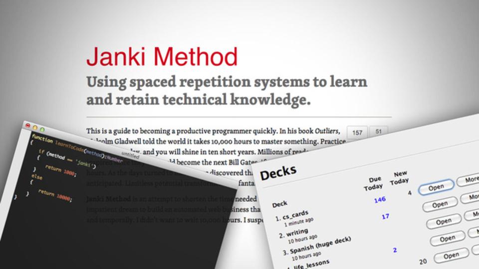 プログラミングの学習を劇的に効率化する「Janki」メソッド