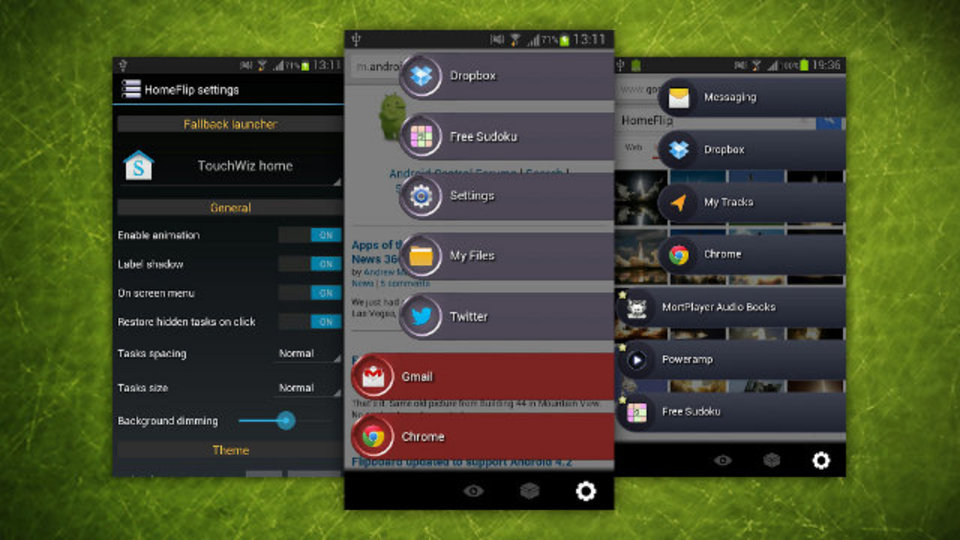アプリの切り替えや起動がホームボタン一撃で素早くできるAndroid用『HomeFlip』