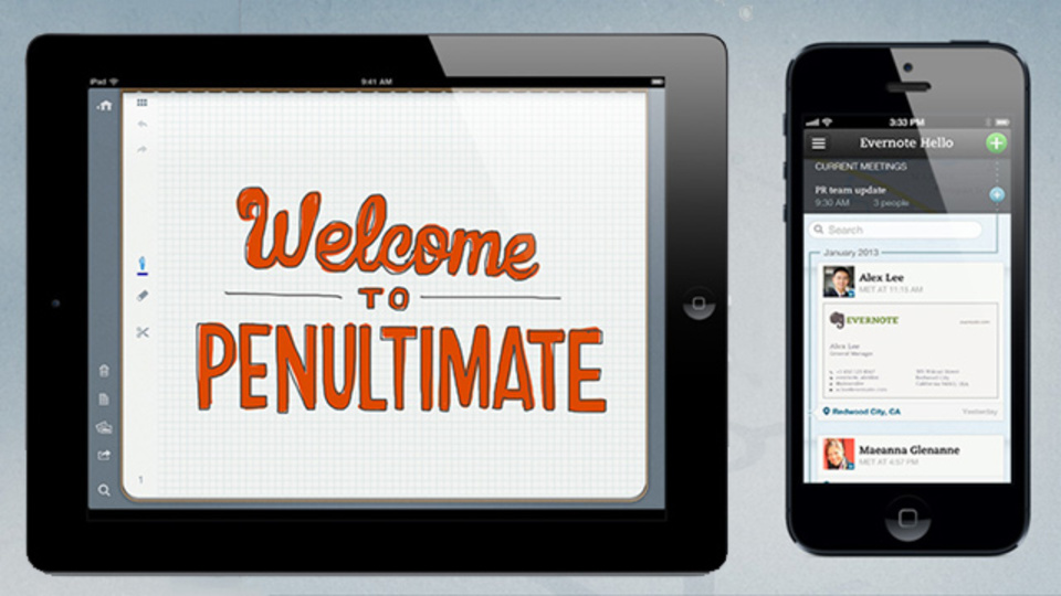 Evernote関連アプリ 『Penultimate』、『Hello』アップデート(無料化したものも!)