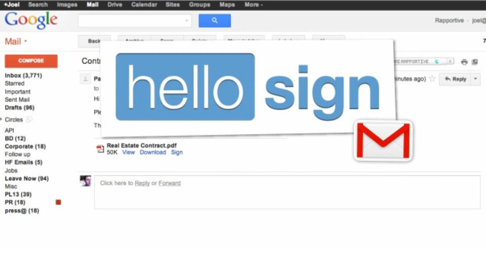 Gmailで受け取った書類へ簡単に電子署名ができる拡張機能「HelloSign」