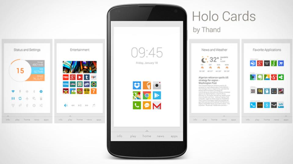 Holo Cards ホーム画面~究極のホーム画面を求めて