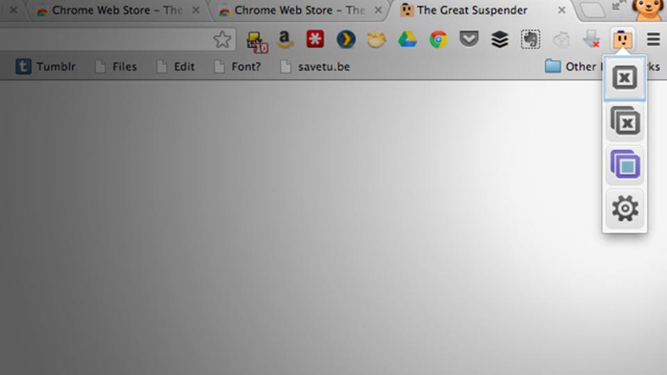 複数タブを開いているChromeを軽くしてくれる拡張機能『The Great Suspender』