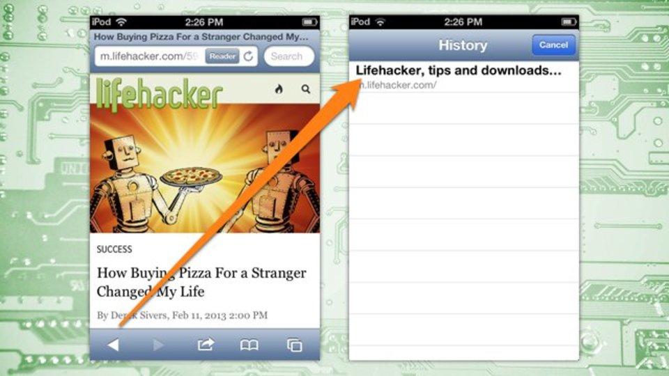 iPhoneで『Safari』の履歴を簡単に呼び出す方法