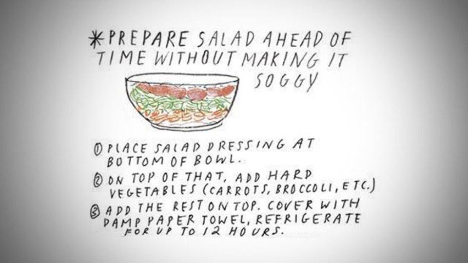 12時間たっても「パリっとしてる」サラダのつくりかた