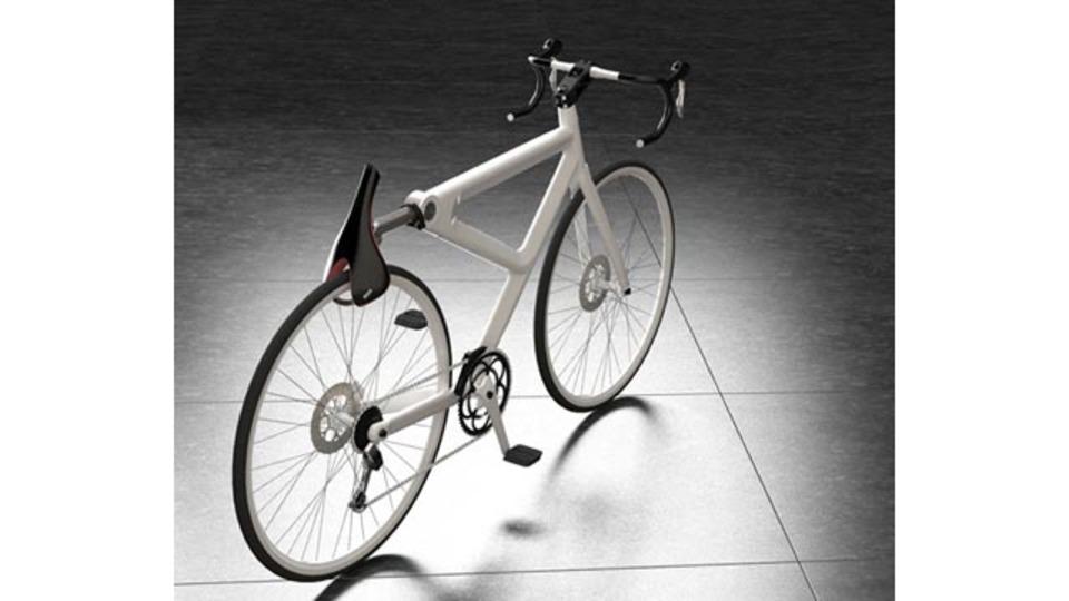 自転車をサドルでロックするという画期的なアイデア