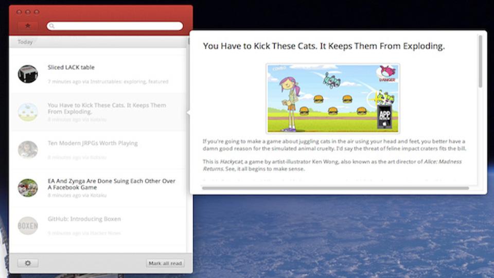 ポスト『Reeder』なるか? Google リーダーと同期が可能なニュースリーダーアプリ『Leaf』