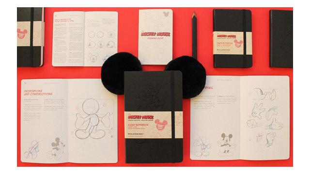モレスキンの限定ミッキーマウス・ノートブックは、シックな見た目に惹かれます