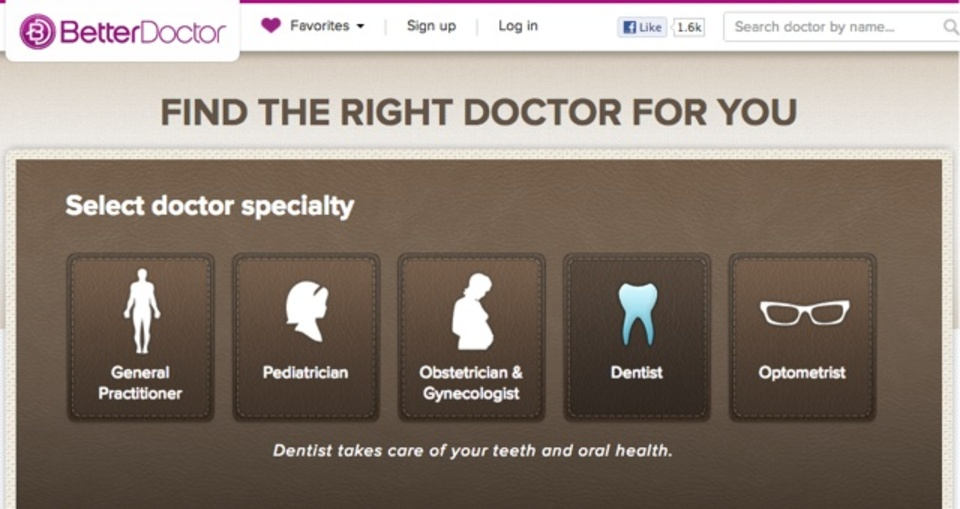あなたにぴったりの医者を探せるサービス「BetterDoctor」
