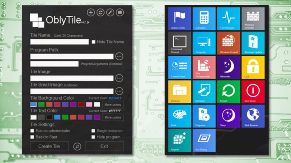 Windows 8でスタイリッシュなカスタムタイルが作成できる『OblyTile』