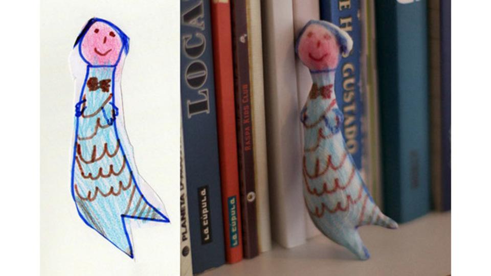 子どもの絵をフィギュア化してくれるサービス「Crayon Creatures」