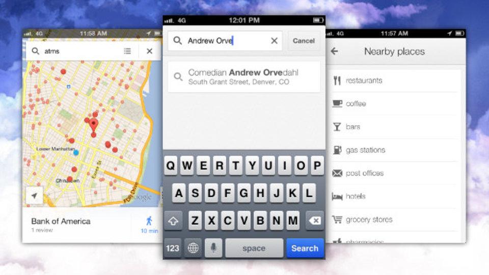 iPhone用『Google Maps』がアップデート! カテゴリー検索や連絡先の住所検索が可能に