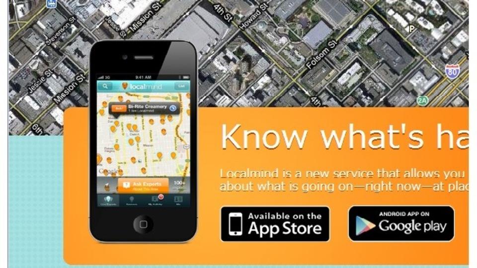 現在のお店の空き具合などが調べられるQ&A式スマホアプリ『Localmind』