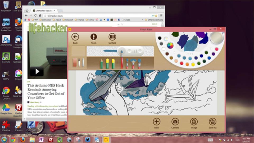 Windows 8の全画面アプリをデスクトップ上で起動できる『ModernMix』
