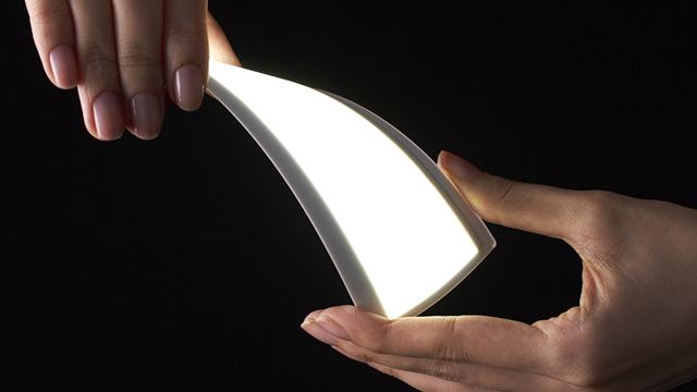 コニカミノルタのフレキシブル型有機EL照明