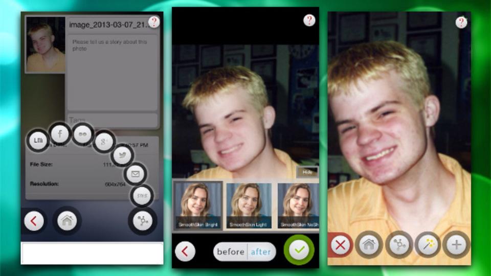 タップ数回で肌荒れやにきびを簡単に隠せる画像修正アプリ『Beauty Box』