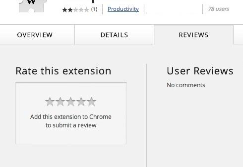 Chrome拡張機能のユーザーレビュー