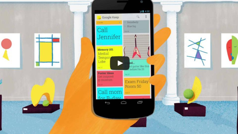 Googleドライブと同期するオンラインメモアプリ『Google Keep』が登場