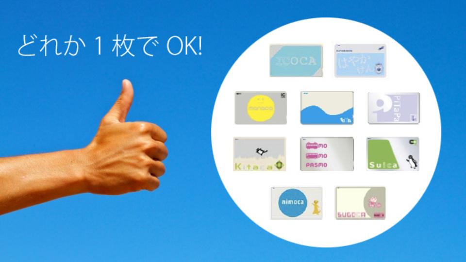 本日から交通系ICカードの全国相互利用サービスが始まります!
